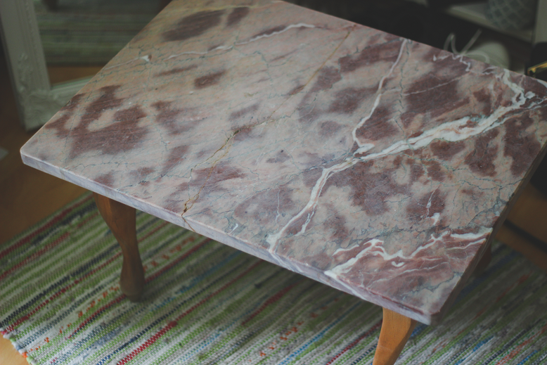 vintage marble side table
