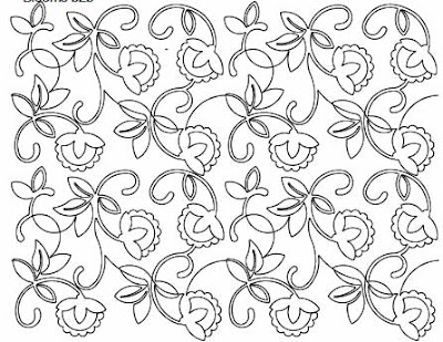 Blooms digital pantograph designed by Anne Bright