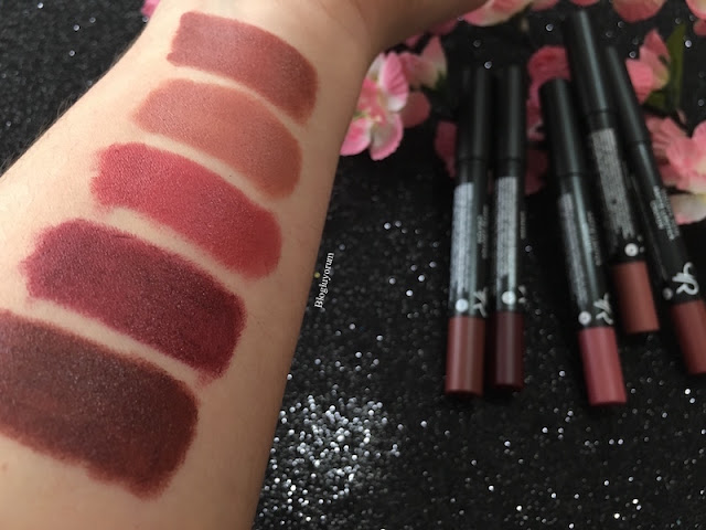 golden rose matte lipstick crayon ruj 01-02-11-18-21 swatch