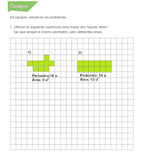 Respuestas Apoyo Primaria Desafíos Matemáticos 4to. Grado Bloque IV Lección 81 Relación perímetro-área