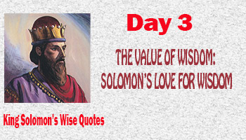 the wisdom of solomon essay The anchor bible offers new, book-by-book translations of the old and new  testarnents and apocrypha, with commentary this volume on the wisdom of.