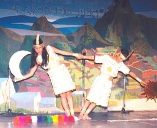 Foto de niños bailando la danza El Condor Pasa - Vestimenta