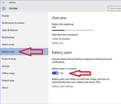save battery windows phone 8.1