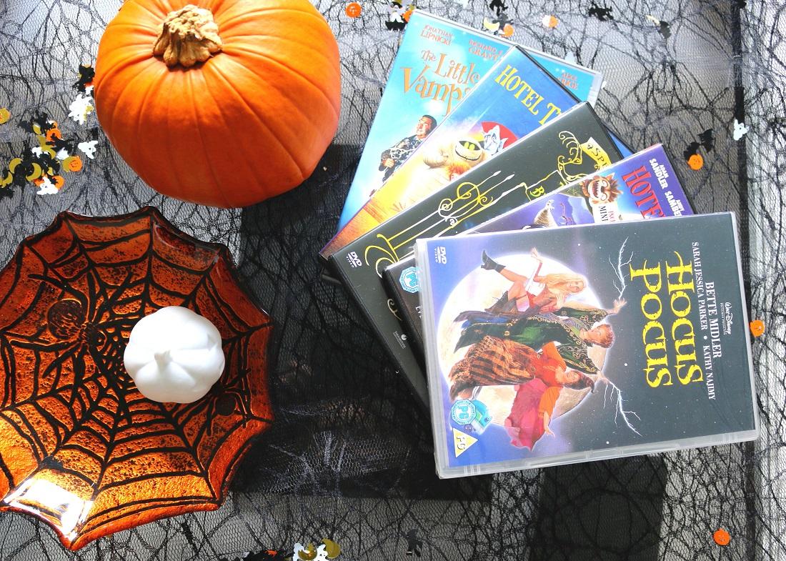 Family Halloween Films Hotel Transylvania, Hotel Transylvania 2, Hocus Pocus, The Little Vampire, The Nightmare Before Christmas