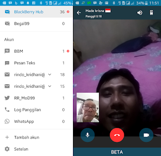 BBM Patched for BlackBerry Hub Versi 2.13.1.14 Video Call