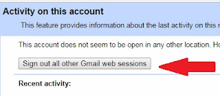 sign out all other gmail web session