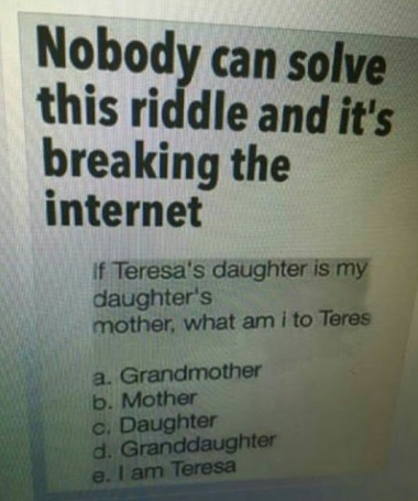 Who can solve this riddle?