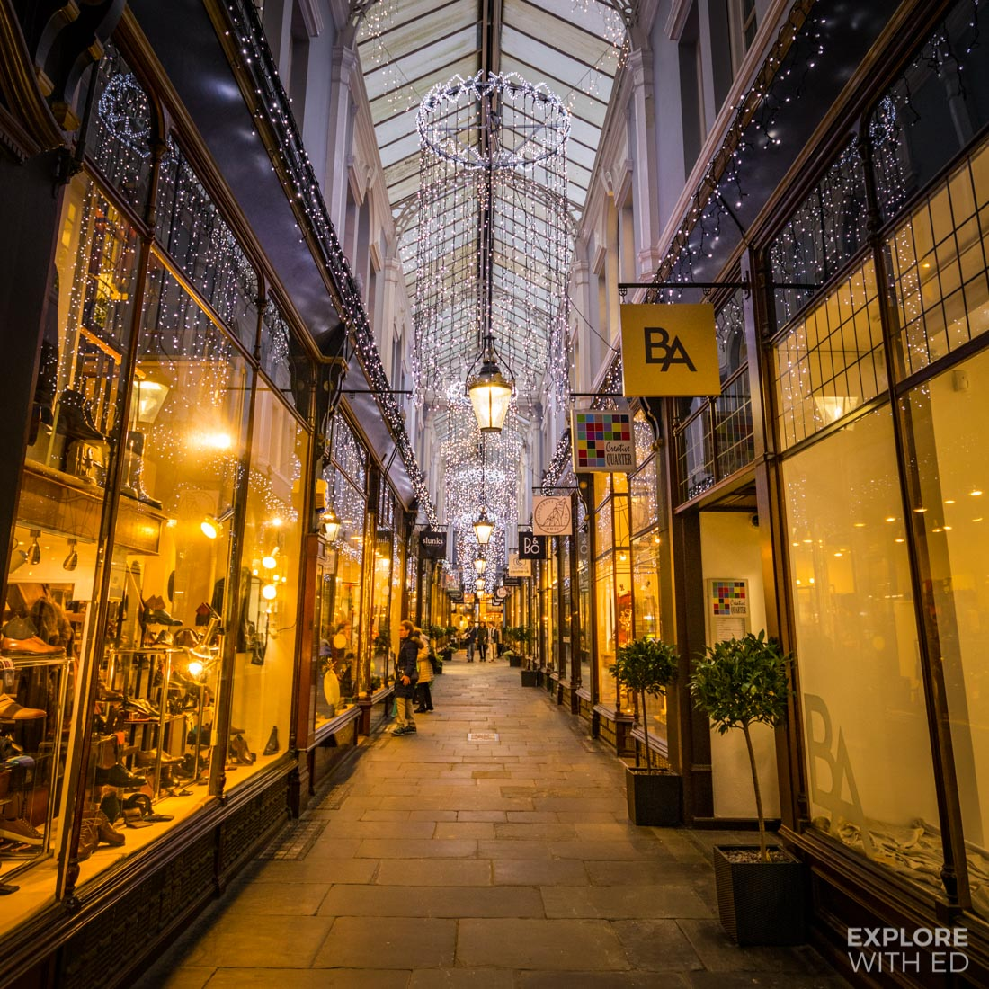 Cardiff's historical arcades illuminated with Christmas Lights