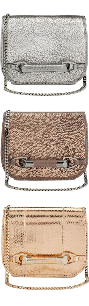 Jimmy Choo Zadie Metallic Cross Body Bags