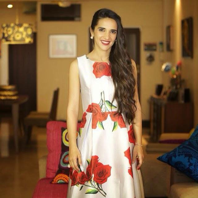 madison girly at its best! tara sharma @tarasharmasaluja looks picture prefect in our steel grey floral midi. styled by the talented @sanjanabatra think roses , think girly , classic , comfortable , chic , think madison , shop madison , tara sharma ,show celebrity sty ling , tara sharma , bollywood dia ries ,, Hot Pics of Tara Sharma Saluja: Style File