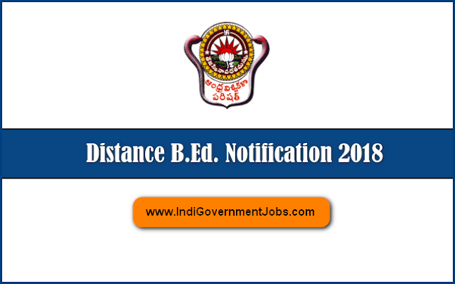 Andhra University distance BEd Notification 2018