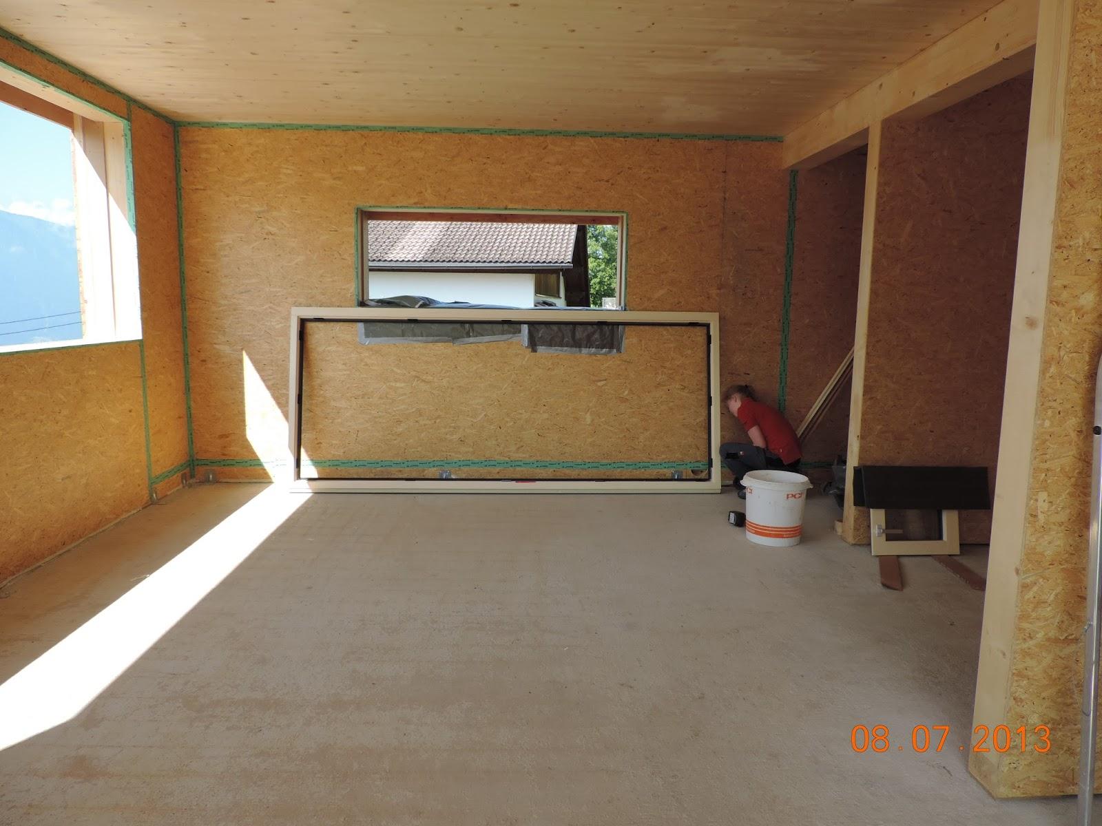 hausbau tagebuch von kathrin und kraxi kamin mauern und fenster einbau. Black Bedroom Furniture Sets. Home Design Ideas