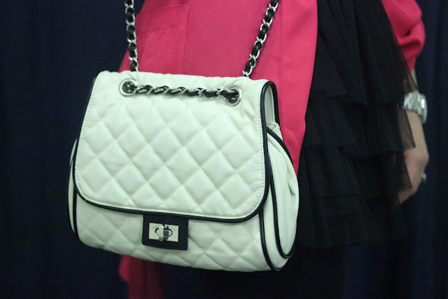 Forever 21 Black and White Quilted Cross Body