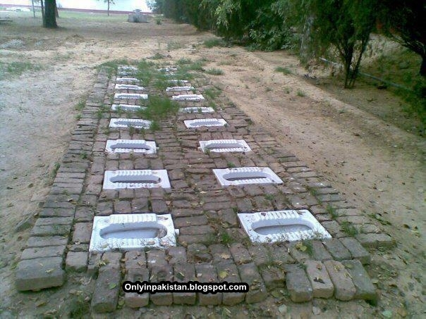 Funny Pakistani open air toilets