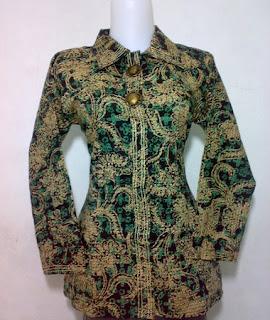 model baju batik atasan brokat