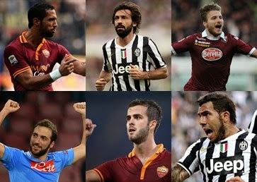 Daftar 11 Pemain Terbaik Liga Italia 2013-2014