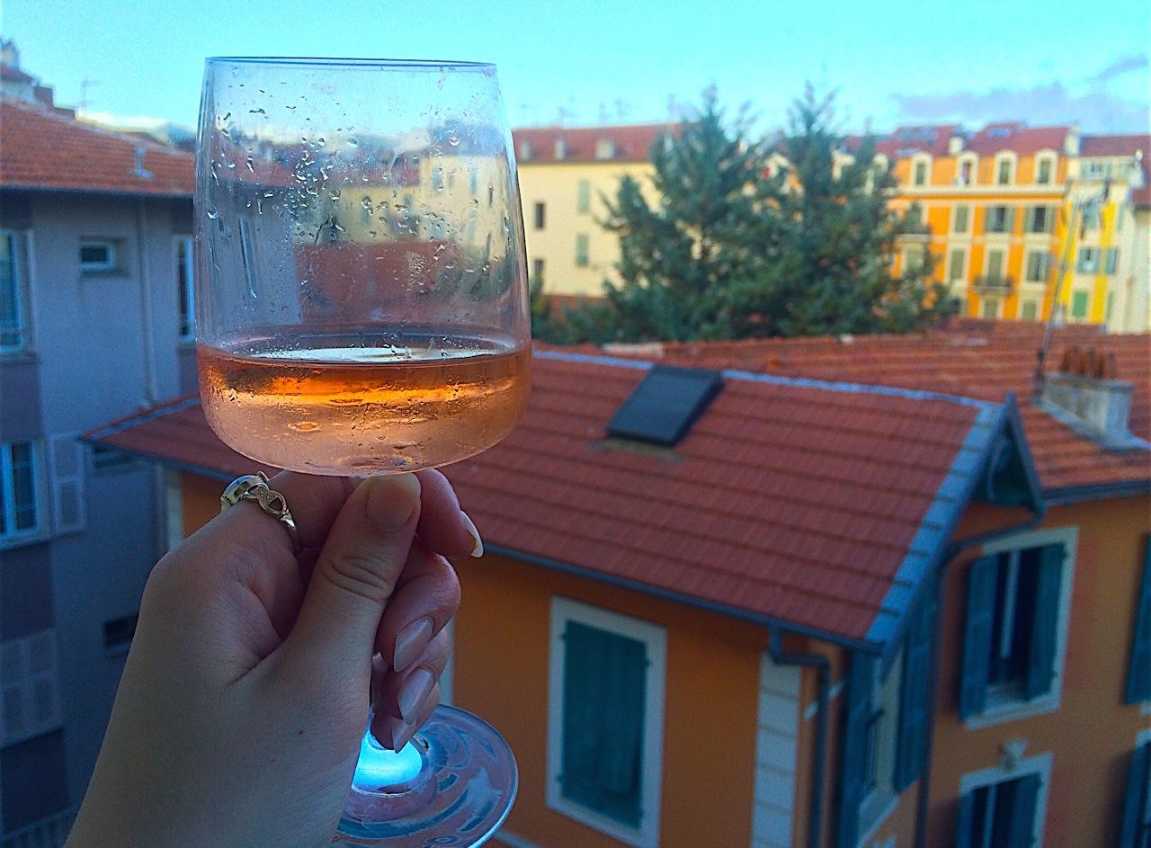 Sampling the Wine in France