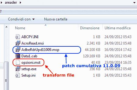 Adobe Customization Wizard XI - Unico update cumulativo