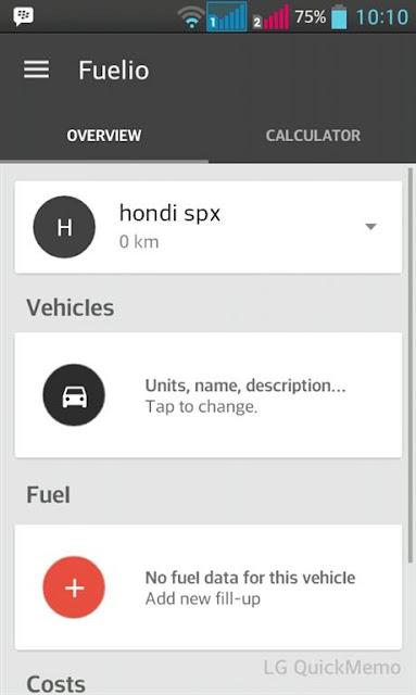 aplikasi terbaru android fuelio beranda