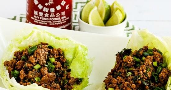 Kalyn's Kitchen®: Low-Carb Sriracha Beef Lettuce Wraps