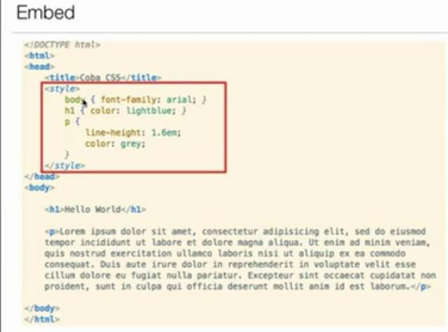 Belajar CSS Dasar Bagian 3 – Penempatan CSS 1