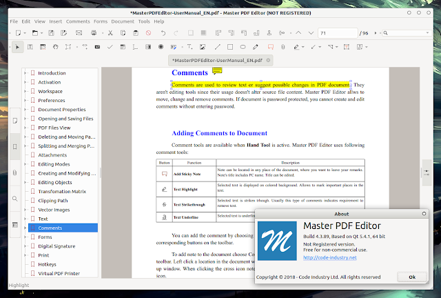 Master PDF Editor 4 Linux free to use
