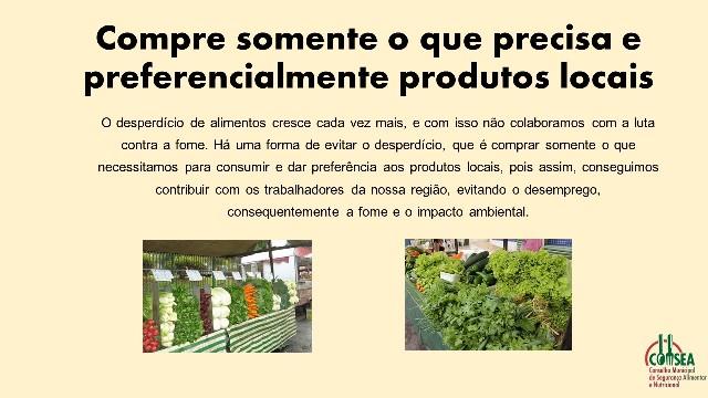 Conselho Municipal de Segurança Alimentar e Nutricional de Registro promove campanha contra o desperdício