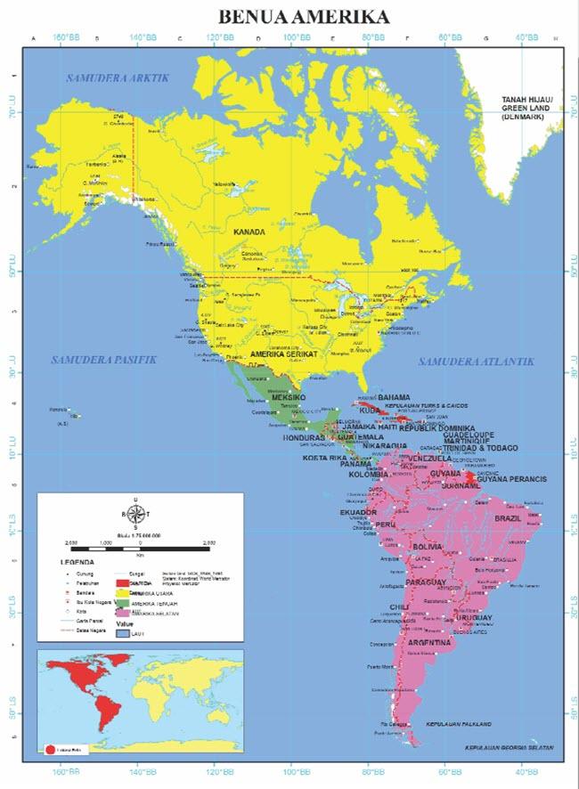 Karakteristik Benua Amerika (Luas, Letak, Iklim, Ciri