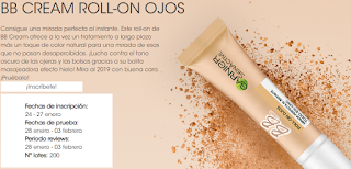 200 personas van a probar gratis BB Cream Roll-On Ojos Garnier