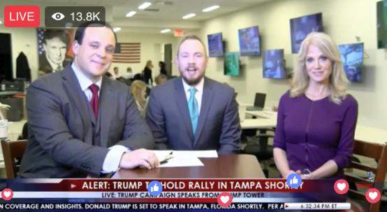 Trump Tower War Room Live Facebook Page