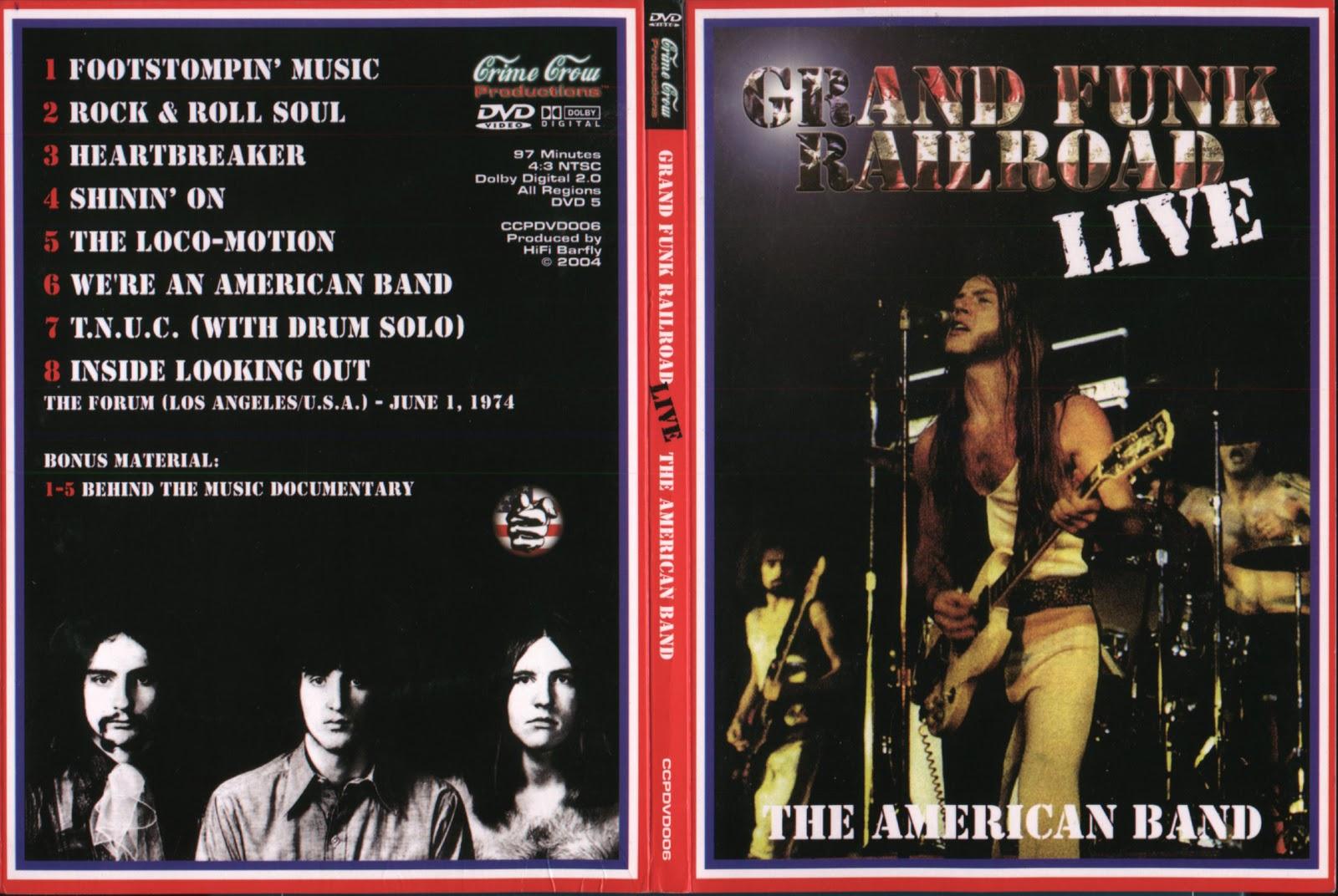 dvds bootleg rarez grand funk railroad live the forum 1974. Black Bedroom Furniture Sets. Home Design Ideas