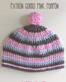 http://happymonkei.blogspot.com.es/2014/09/patron-gorro-pink-pompon.html