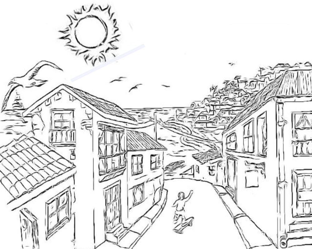 Dibujo De Chilena Para Colorear: Chile, Dibujos Y Láminas Para Colorear