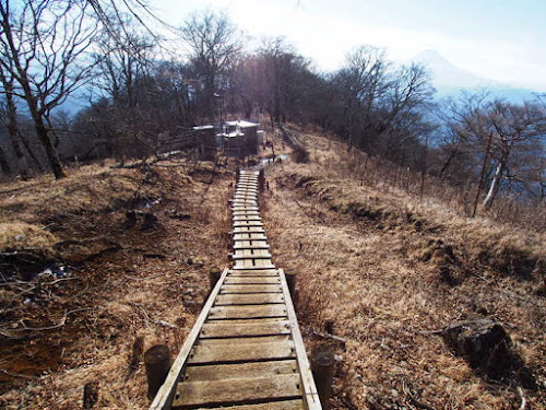 山頂から続く木道