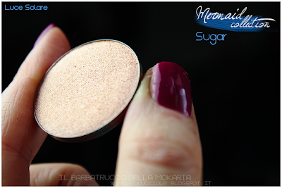 SUGAR -  Eyeshedow ombretti Swatches, Comparazione  - MERMAID COLLECTION - NABLA COSMETICS