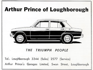 Arthur Prince's of Loughborough 1970 advert