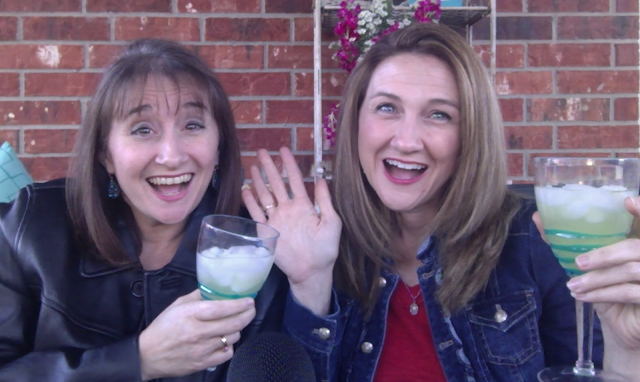 The sisters from Of Sound Mind and Spirit with their Friday Night Margaritas