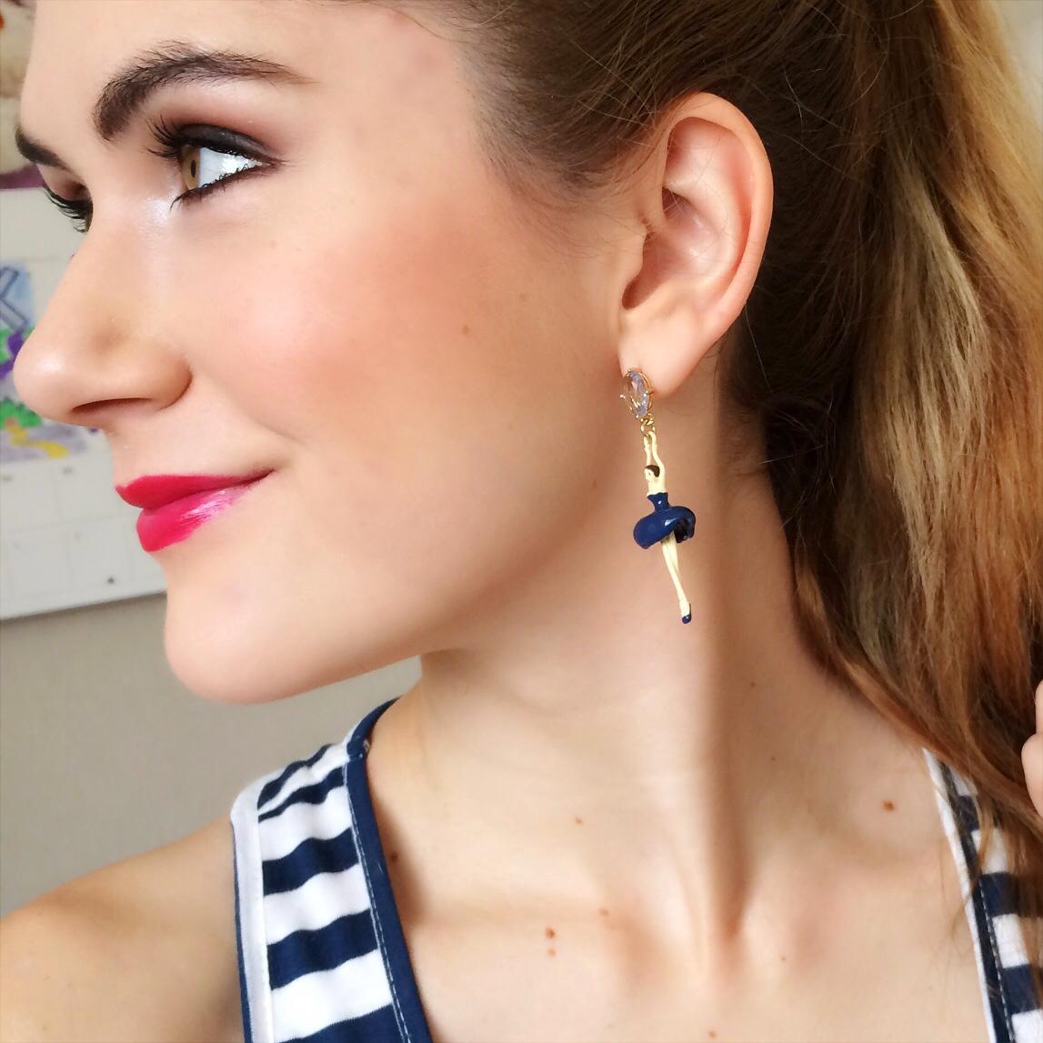 Ballerina Earrings, Cute Fashion Blog