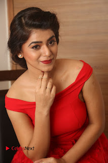 Actress Yamini Bhaskar Latest Pictures in Red Dress at 100 Days of Love Movie Audio Launch  0093