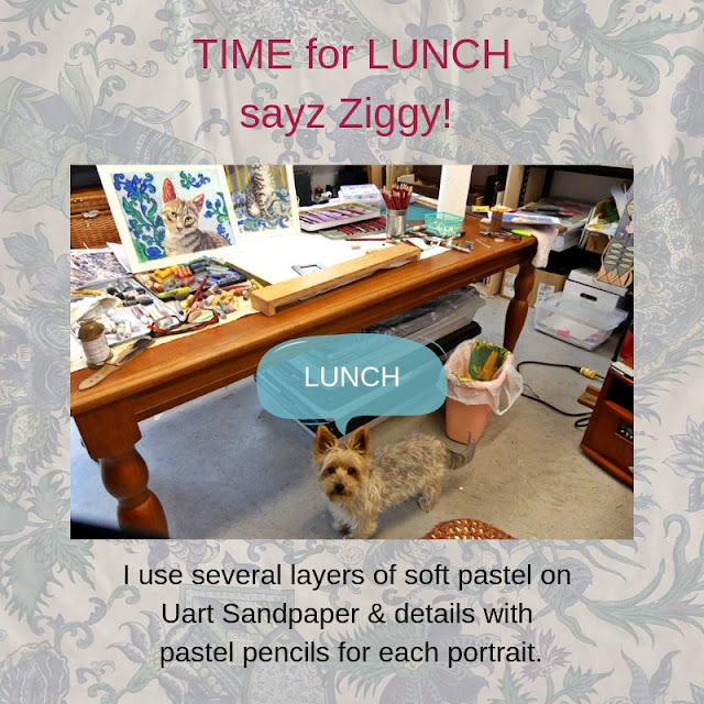 Ziggy & portraits & TIME FOR LUNCH!