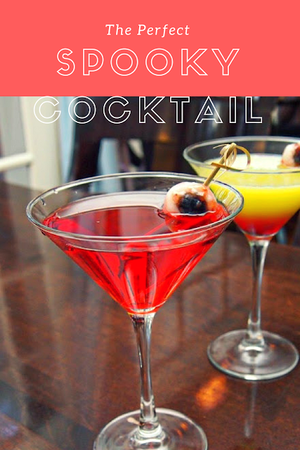 An easy Halloween cocktail to spook your guests. #martini #recipes #cocktails #Halloween