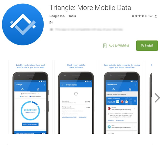 Google Launches Triangle App  That Will Help You Earn And Save Mobile Data