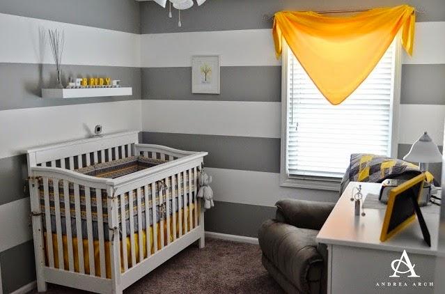 Dormitorios para beb s en gris y amarillo colores en casa for Cuarto color gris