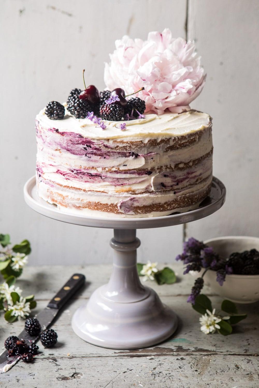 [Homemade] Semi-Naked chocolate cake with Sugared Berries