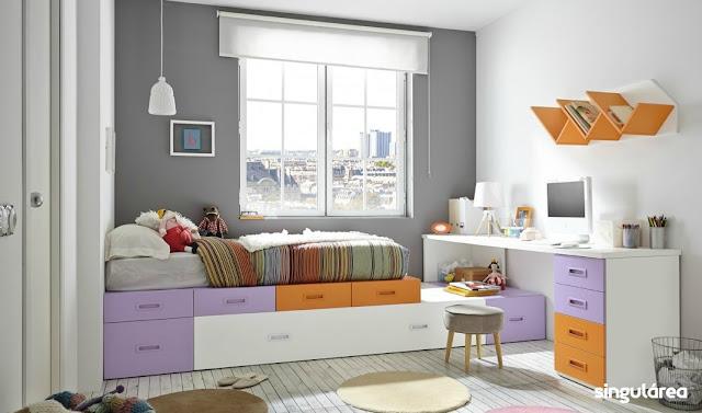 Juvenil modular sin armario 1235 - Dormitorios infantiles valencia ...