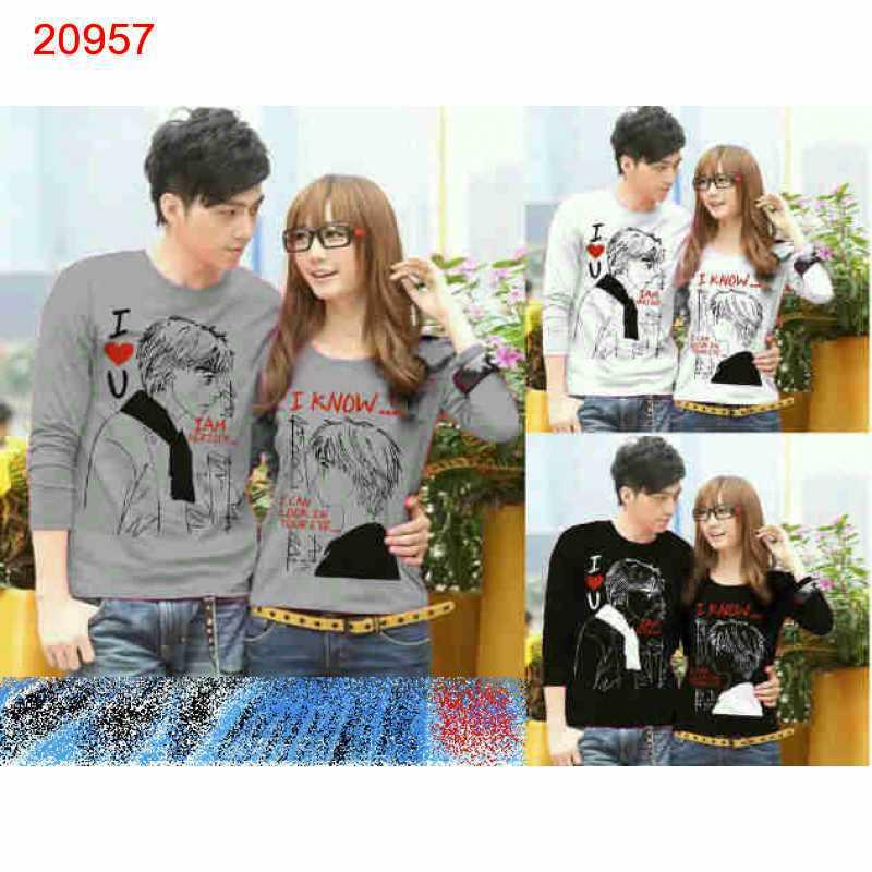 Jual Couple Lengan Panjang LP I Know - 20957