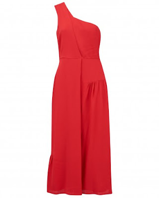 Attorney Road Red One Shoulder Dress