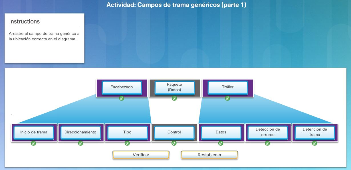 Trama de enlace de datos - CCNA V6.0
