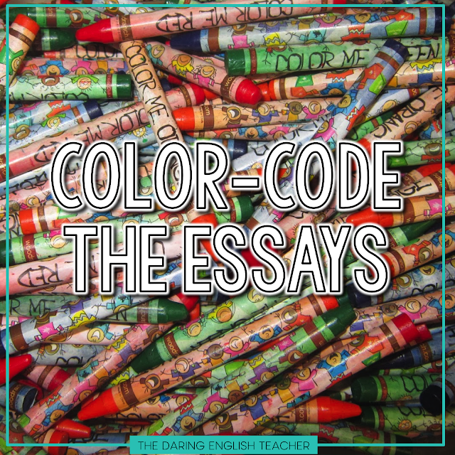 Crayons are a great visual tool for teaching writing. Here's how to score free crayons for teaching your students how to color code their essays!
