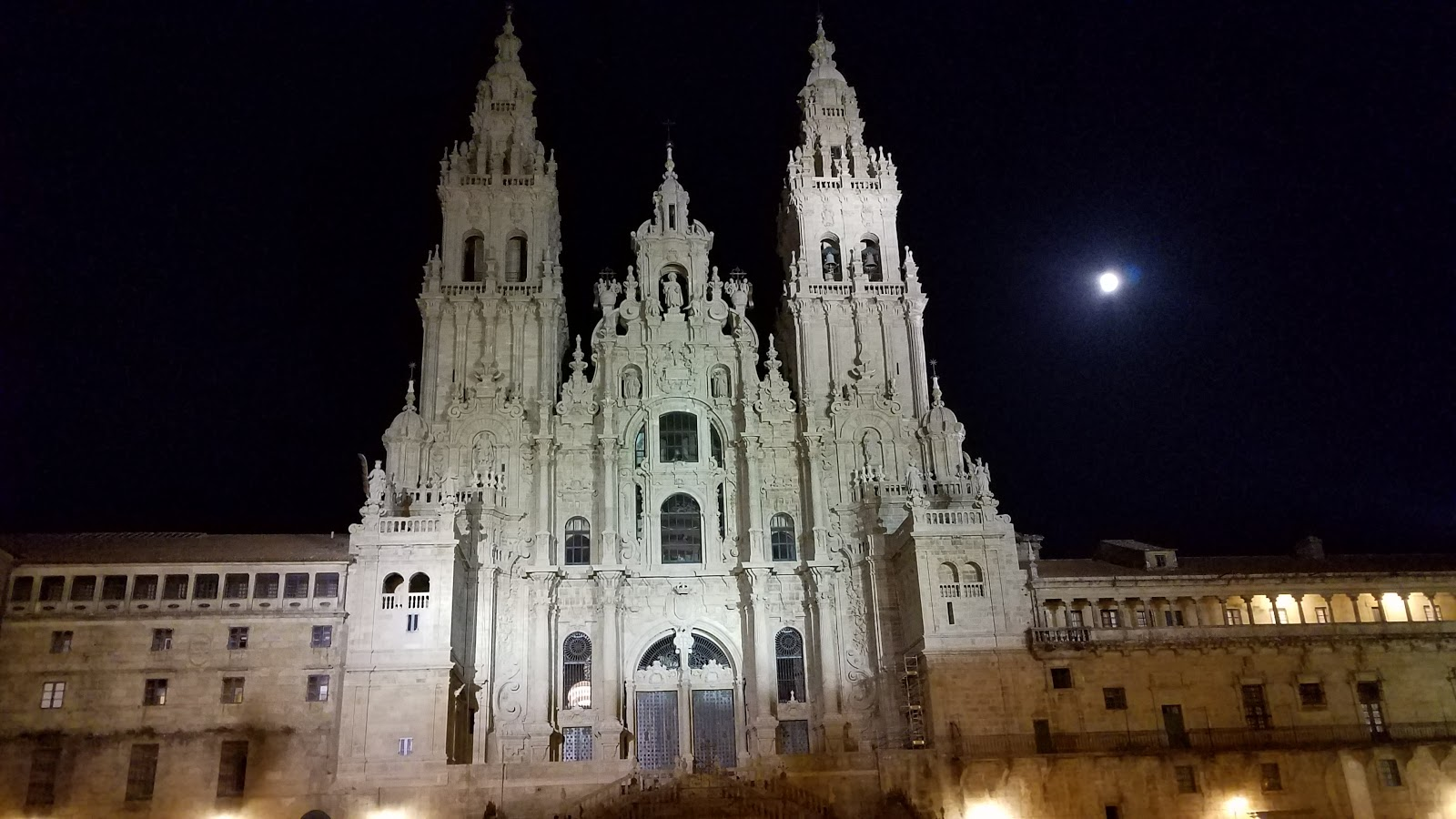 Midnight at the cathedral in Santiago de Compostela. It was so peaceful sitting in Obradoiro square and reflecting on the day of my arrival.